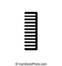 Comb icon. Vector illustration - Comb icon. Silhouette flat...