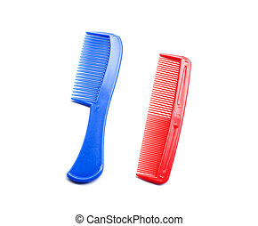 comb isolated on white close up look