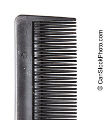 comb on a white background. macro