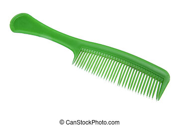 Comb on the white background