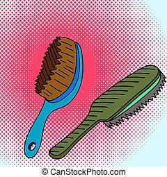 Comb Pop art vector illustration