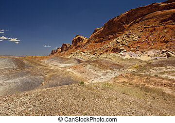 Comb Rigde in Southern Utah - Tumbled stones and boulders at...