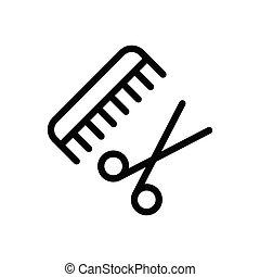 comb thin line icon