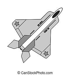 combat aircraft icon