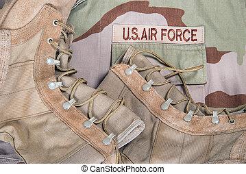 Combat boots and Air Force uniform - Old combat boots...