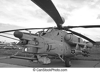 Combat helicopter - Attack helicopter is armed with rockets...