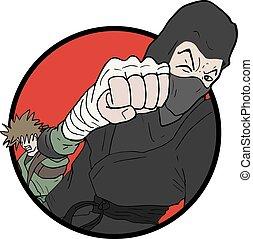 combat, illustration
