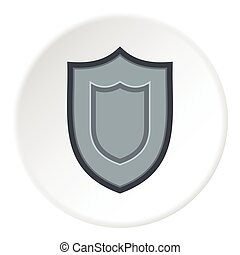 Combat shield icon, flat style - Combat shield icon. Flat...