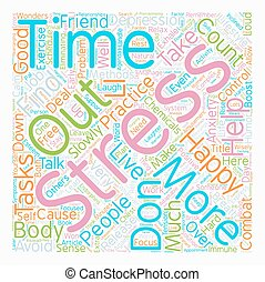 Combat Stress 7 Practical Methods text background wordcloud concept