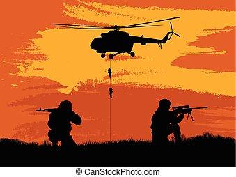 combate, soldados, rendimiento, mission..eps