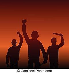 combativo, protesters