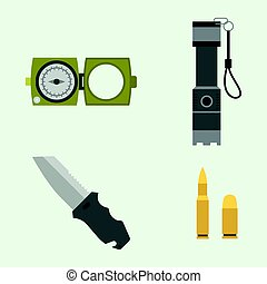 combattant, illustration., armure, arme, camouflage, signe, américain, vecteur, forces, militaire, munitions, fusils