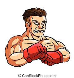 combattant, illustration