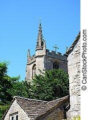 combe., castillo, iglesia, torre