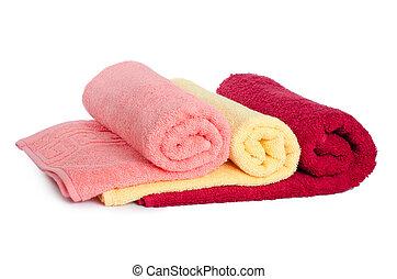 combinado, toalhas, cor