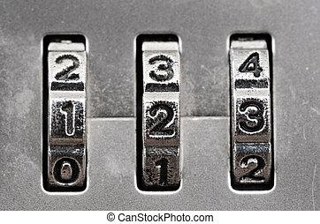 Combination Lock dials - Macro of combination lock - dials ...