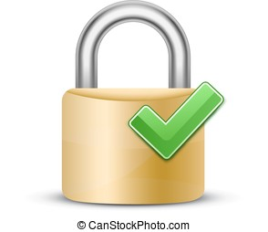 Combination lock icon