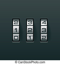 Combination lock - Vector illustration of a combination lock...