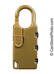 Combination Lock; isolated, three clipping pathes included