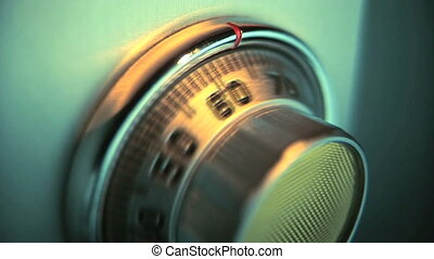 Combination Lock on Safe, time lapse