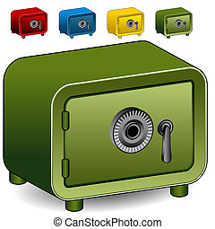 Combination Lock Safe Icon - An image of a combination lock...