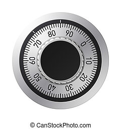 Vector illustration of a combination lock