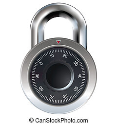 Combination lock vector sketch - Combination lock typically...