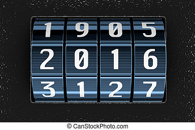 Combination lock with 2016