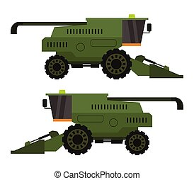 combine harvester icon illustrated in vector on white background