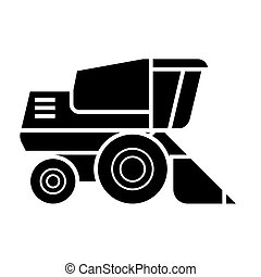 combine harvester  icon, vector illustration, sign on isolated background