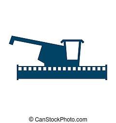 combine harvester logo. Sign Farm. Machine for harvesting...