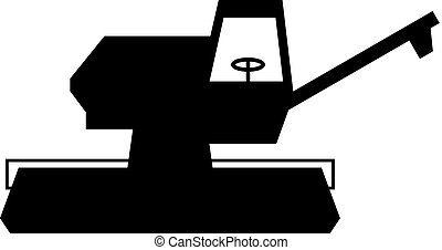 Combine harvester, shade picture