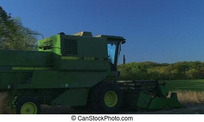 Combine Harvesting Soybeans 04 - Combine harvesting soybean...