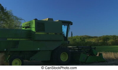 Combine Harvesting Soybeans 04 - Combine harvesting soybean...