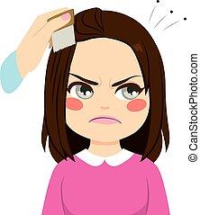 Combing Hair Lice