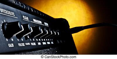 combo amplifier panel closeup