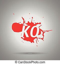 combo fatality ko icon - combo fatality ko icon , splash...