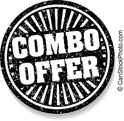 Combo offer black rubber stamp with shadow.