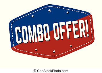 Combo offer label or sticker