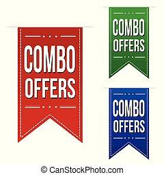 Combo offers banner design set