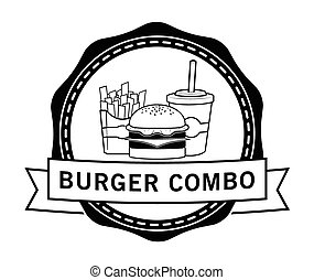 Combo package Burger