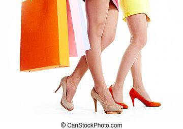 combok, közül, shoppers