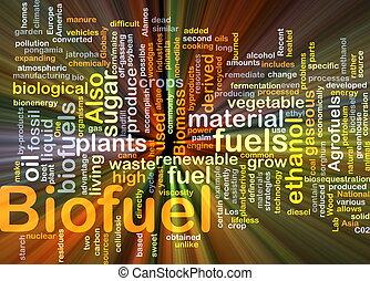 combustível, glowing, conceito, biofuel, fundo