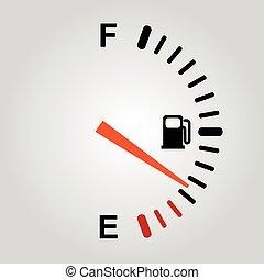 combustível, indicação