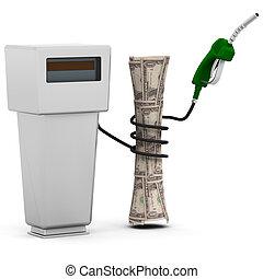 combustível, preços, levantar