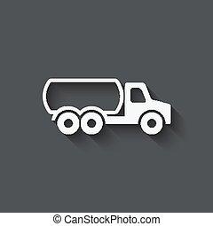 combustível, símbolo, caminhão