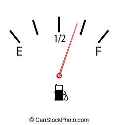 combustível, símbolo, vetorial, medida, ilustração