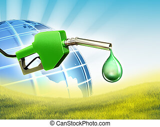 combustível, verde