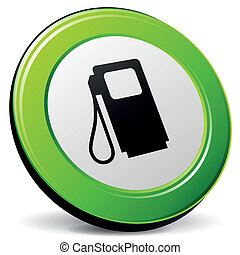 combustível, vetorial, 3d, ícone