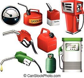 combustible, conjunto